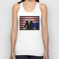 frank underwood Tank Tops featuring House Of Cards - Frank Underwood by Tom Storrer