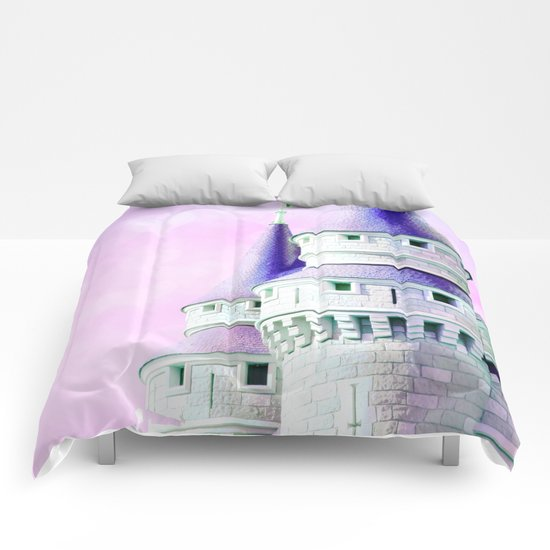 Purple Castle Comforters