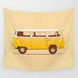 Van - Yellow Wall Tapestry