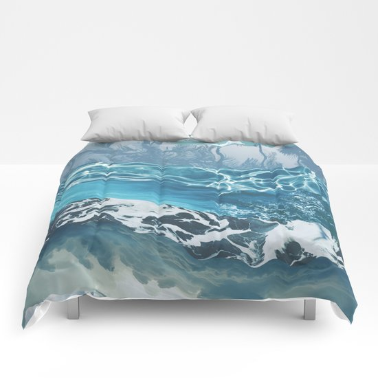 Sea abstract Comforters