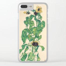 "Egon Schiele ""Sonnenblumen"" Clear iPhone Case"