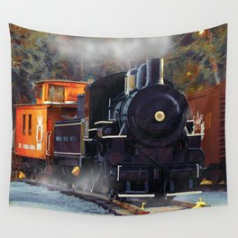 The Rail Yard  -  Steam Train Wall Tapestry