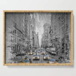 Graphic Art NEW YORK CITY 5th Avenue Traffic Serving Tray