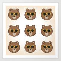 Cool Bears  Art Print