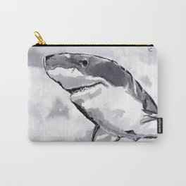 Shark - Animal Series in Ink Carry-All Pouch