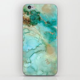 Alcohol Ink 'Mermaid' iPhone Skin