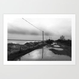 Flooded Route Art Print