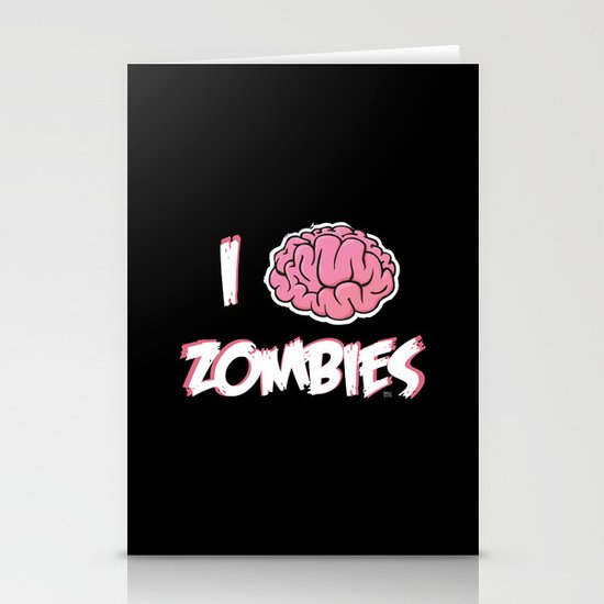 I Brain (Love) Zombies Stationery Cards