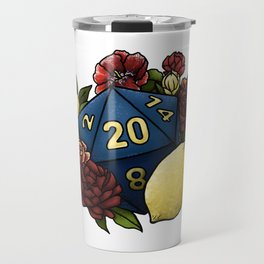 Marsala Lemon D20 Tabletop RPG Gaming Dice Travel Mug