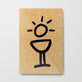 cork paper light Metal Print