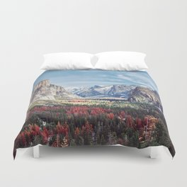 Tunnel View Yosemite Valley Duvet Cover