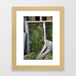 Window Framed Flora Framed Art Print