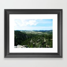 The Landscape Has Hills Framed Art Print