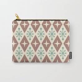 Mid Century Modern Atomic Triangle Pattern 101 Carry-All Pouch