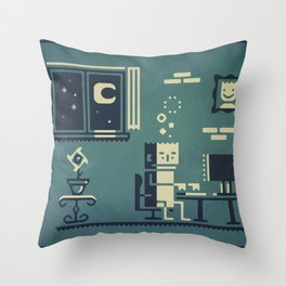 Screenstruck graphic illustration Throw Pillow