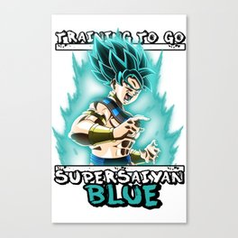 Training to go super saiyan blue - Goku Canvas Print