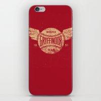 quidditch iPhone & iPod Skins featuring Vintage Gryffindor Quidditch Team by Gurven