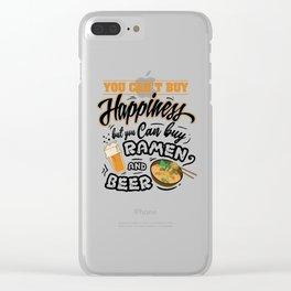 Kawaii Ramen beer Manga Otaku Cosplay Gift Clear iPhone Case