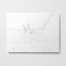 Dorf Blick Metal Print