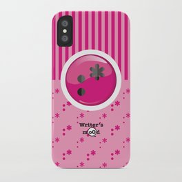 Pink Writer's Mood iPhone Case