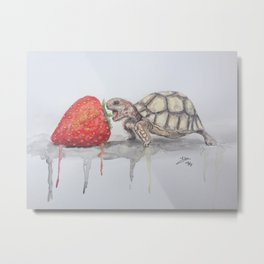 glutton turtle Metal Print