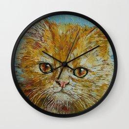 Van Gogh the Kitten Wall Clock