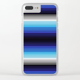 Deconstructed Serape in Blue Clear iPhone Case