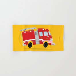 Fire Truck Hand Bath Towels For Any