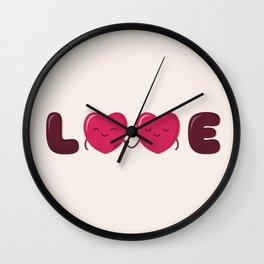Love - Cute Doodles Wall Clock