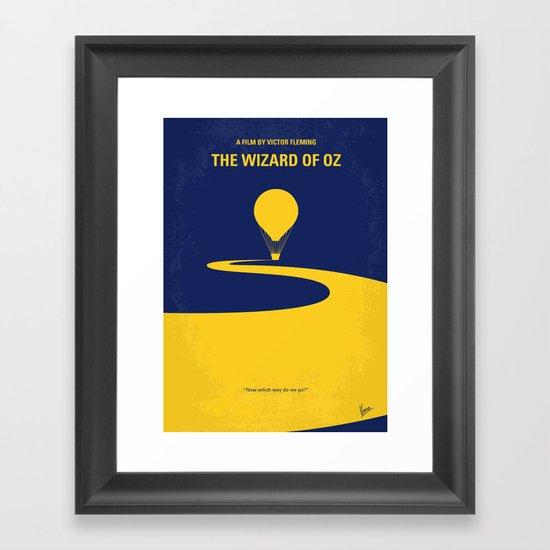 No177 My Wizard minimal movie poster OZ Framed Art Print