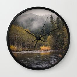Salmon River I Wall Clock