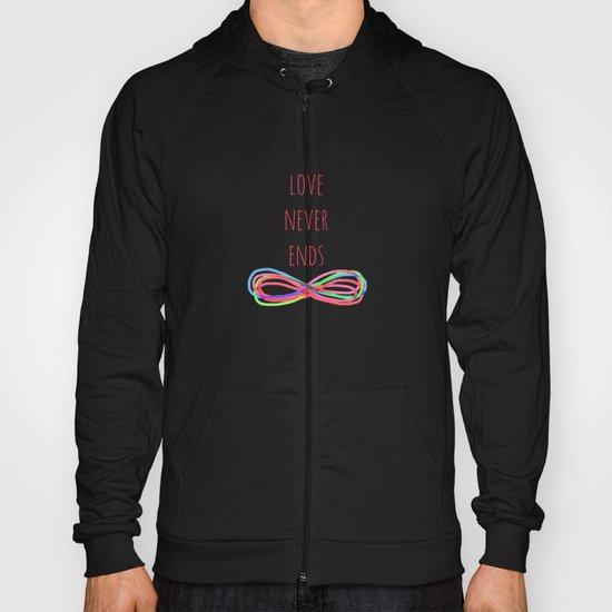 Love Never Ends  (black) Hoody