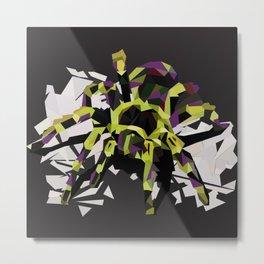 Spider Low Poly Art Print Metal Print