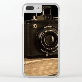 Vintage Kodak Brownie Camera Clear iPhone Case