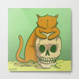 Kitty Hugs Metal Print