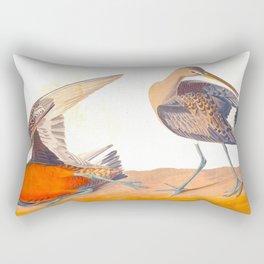 Hudsonian Godwit Bird Rectangular Pillow