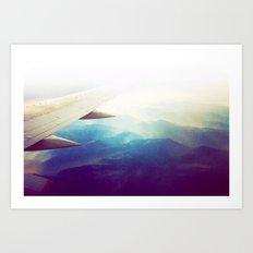 morning plane Art Print