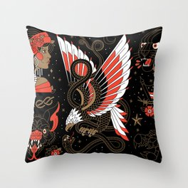 Americana - Part I (Alternative Version) Throw Pillow