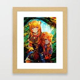 Colorful Raphs Framed Art Print