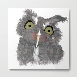 THE LITTLE CRAZY OWL Metal Print