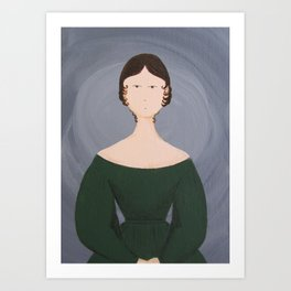 Emily Bronte - Gothic Literature Inspired Original Acrylic on Canvas Artwork Art Print