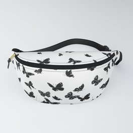 black and white butterflies Fanny Pack