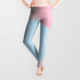 Petrichor soft pink and light blue Leggings