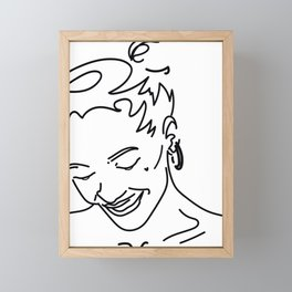 Line art abstract insta logo illustration Framed Mini Art Print