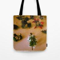 santa Tote Bags featuring santa by gasponce