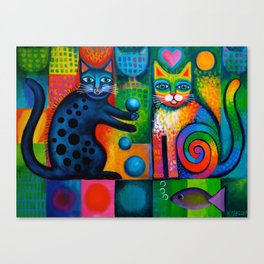 Juggle Puss Canvas Print