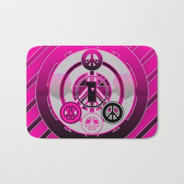 One Love (Pink) Bath Mat