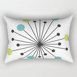 Atomic Age Nuclear Motif — Mid Century Modern Rectangular Pillow