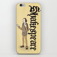 shakespeare iPhone & iPod Skins featuring Shakespeare 2  by Matthew Morris
