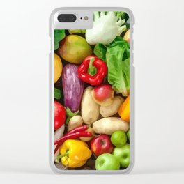 fruit table Clear iPhone Case